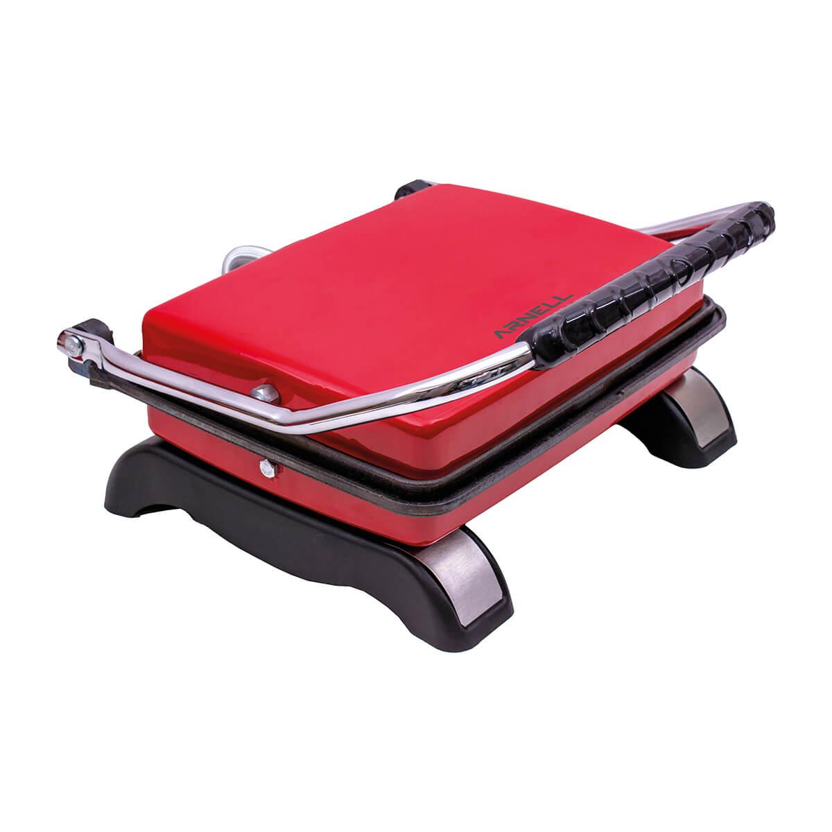 Döküm Tost Makinesi - Kırmızı / Fuşya